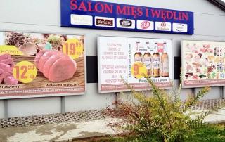 Tablice Billboardowe i Kaseton z Dibondu - realizacja dla Salon Mięs i Wędlin