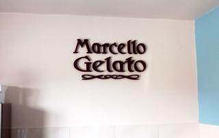 Litery Styrodurowe Marcello Gelato