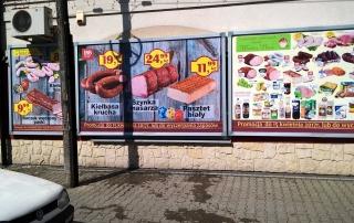 Tablice billboardowe wiszące - realizacja dla Wołoch Artykuły Spożywcze