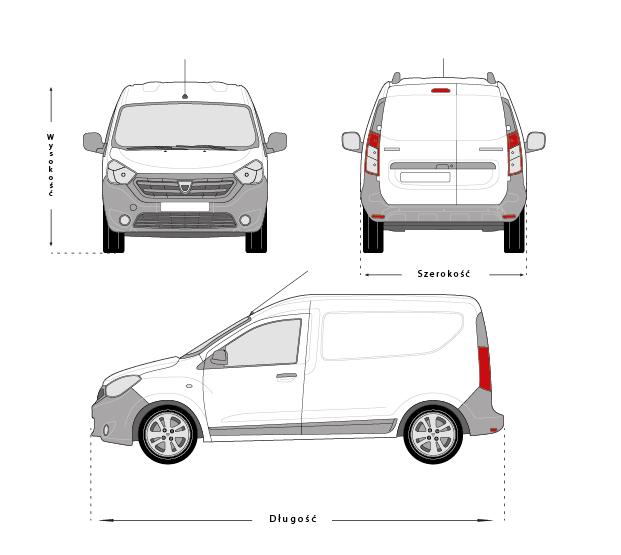 Siatka samochodu dostawczego.Projektowanie samochodów wymaga przewidzenia wielu kwestii związanych z oklejaniem i jego ograniczeniami.