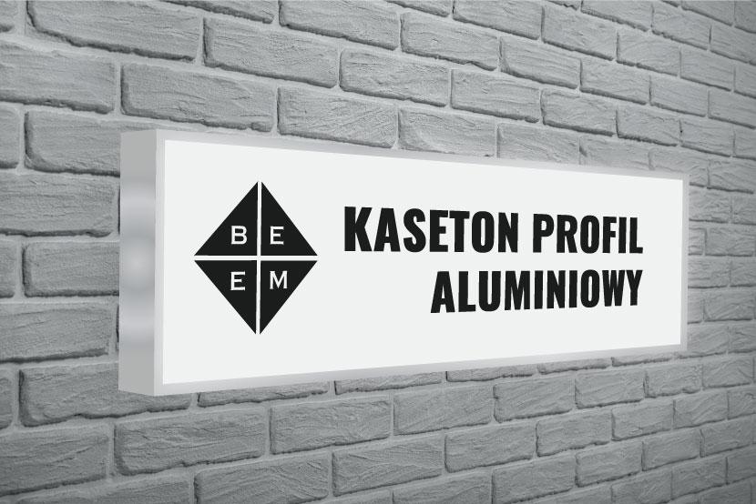 Kaseton Świetlny na profilu aluminiowym - ilustracja