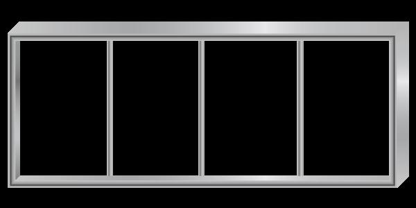 Aluminiowa konstrukcja reklamy z profili malowanych na dowolny kolor z palety RAL