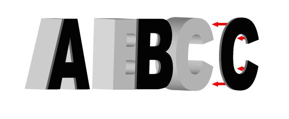 Litery Styrodurowe naszej produkcji mogą dodatkowo posiadać lico która nada im specyficzne dla użytego materiału wykończenie.
