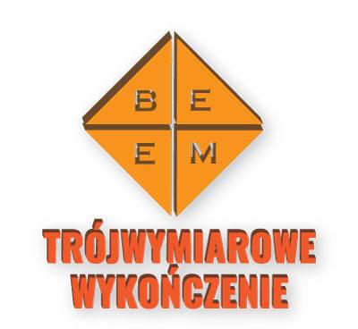 Litery i logo trójwymiarowe BeeM - ilustracja