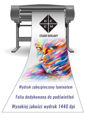 Wydruki na folii translucentnej do podświetleń - ilustracja
