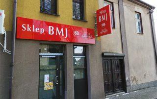 Kaseton i Semafor z Dibondu realizacja Sklep BMJ