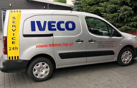 Oklejenie samochodu Peugeot Partner dla Edmar