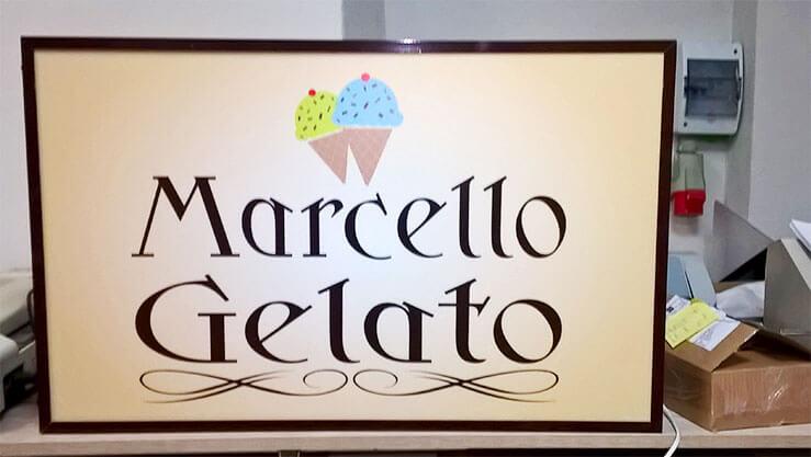 Kaseton na profilu aluminiowym Marcello Gelato w czasie produkcji