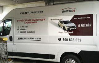 Oklejenie samochodu fiat ducato folia plotowaną i wylewaną dla sportowe24